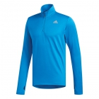 Adidas Men's Response Crew 1/2 Zip Long Sleeve Tennis Top (Bright Blue) - Adidas Men's Tennis Jackets, Pants and Sweats