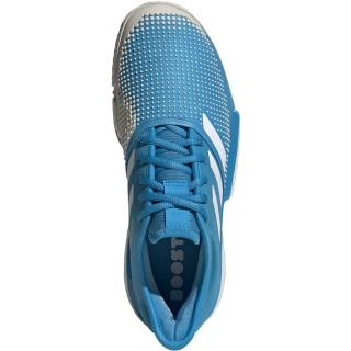 1b1d979bd Adidas Men s SoleCourt Boost Clay Court Tennis Shoes (Shock Cyan White)