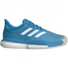 Adidas Men's SoleCourt Boost Clay Court Tennis Shoes (Shock Cyan/White) - 6-Month Warranty Shoes