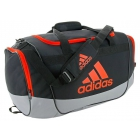 Adidas Defender II Medium Duffel Bag (Black/Grey/Bold Orange) - Tennis Bag Brands
