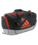 Adidas Defender II Medium Duffel Bag (Black/Grey/Bold Orange) - Adidas Tennis Bags