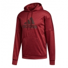 Adidas Men's TI Fleece Tennis Hoodie (Noble Maroon Melange) - Adidas Men's Tennis Jackets, Pants and Sweats