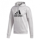 Adidas Men's TI Fleece Tennis Hoodie (Grey Melange) - Adidas Men's Tennis Jackets, Pants and Sweats