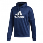 Adidas Men's TI Fleece Tennis Hoodie (Collegiate Navy Melange) - Adidas Men's Tennis Jackets, Pants and Sweats