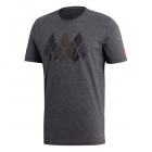 Adidas Men's Barricade Graphic Tennis Tee (Dark Grey Heather) - SALE: Adidas Barricade Tennis Apparel & Shoes for Men