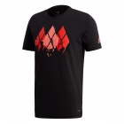 Adidas Men's Barricade Graphic Tennis Tee (Black) - SALE: Adidas Barricade Tennis Apparel & Shoes for Men