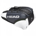 Head Djokovic 12R Monstercombi Tennis Bag (Black/White)