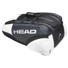 Head Djokovic 12R Monstercombi Tennis Bag (Black/White) - Head Tennis Bags