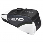 Head Djokovic 6R Combi Tennis Bag (Black/White) - Head Tennis Bags