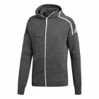 Adidas Men's NZE Tennis Hoodie (Heather/Dark Grey Heather) - Adidas Men's Tennis Jackets, Pants and Sweats