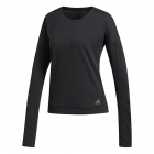 Adidas Women's Supernova Tennis Training Sweatshirt (Black/Colored Heather) - Adidas Women's Tennis Dresses, Jackets & Pants