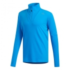 Adidas Men's Supernova 1/2 Zip Long Sleeve Tennis Top (Bright Blue) - Adidas Men's Tennis Jackets, Pants and Sweats
