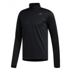 Adidas Men's Response Crew 1/2 Zip Tennis Warmup Top (Black) - Adidas Men's Tennis Jackets, Pants and Sweats