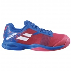 Babolat Junior Jet All Court Tennis Shoe (Poppy Red/Estate Blue) -