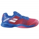 Babolat Junior Jet All Court Tennis Shoe (Poppy Red/Estate Blue) - Tennis Gift Ideas for Junior Players