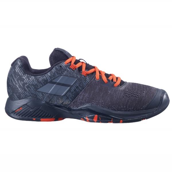 Babolat Men's Propulse Blast All Court Tennis Shoes (Black/Tomato Red)