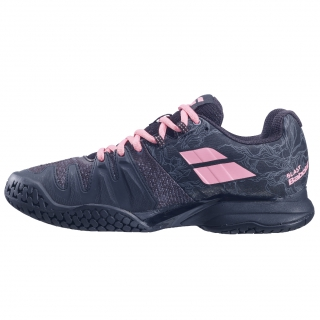 Babolat Women's Propulse Blast All Court Tennis Shoes (Black/Geranium Pink)