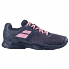 Babolat Women's Propulse Blast All Court Tennis Shoes (Black/Geranium Pink) -