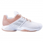 Babolat Women's Propulse Fury All Court Tennis Shoes (White/Coral) -