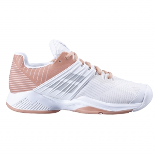 Babolat Women's Propulse Fury All Court Tennis Shoes (White/Coral)