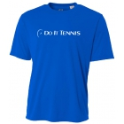 Do It Tennis Unisex Performance Crew Neck Tennis T-Shirt (Blue) -