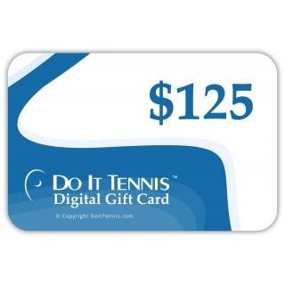 Do It Tennis Digital Gift Certificate $125