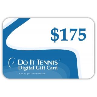Do It Tennis Digital Gift Certificate $175