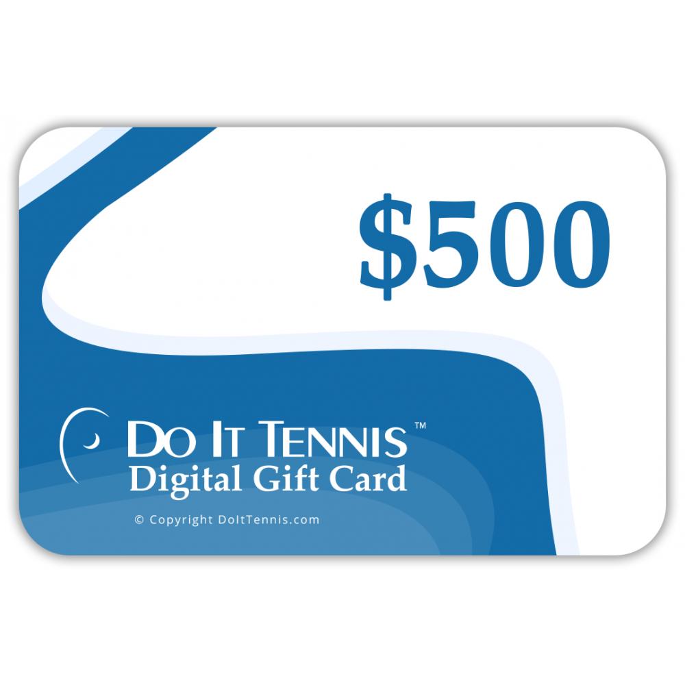 Do It Tennis Digital Gift Certificate $500