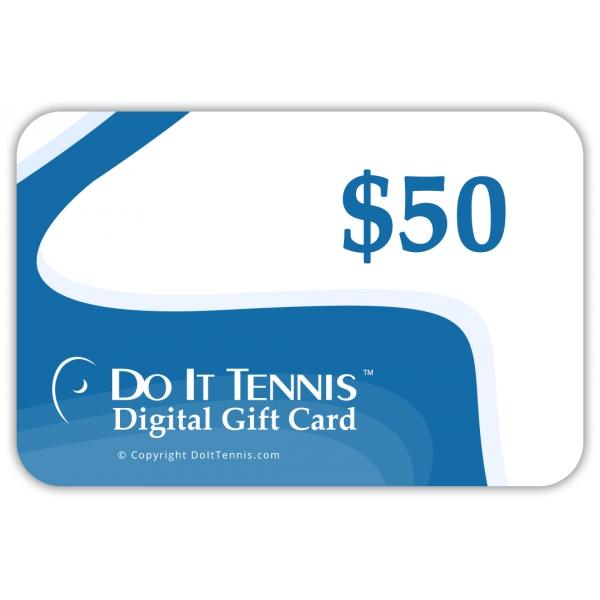 Do It Tennis Digital Gift Certificate $50