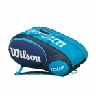 Wilson Tour Mini 6 Pack Tennis Bag (Blue/ White) - New Tennis Bags
