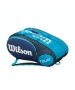 Wilson Tour Mini 6 Pack Tennis Bag (Blue/ White) - Wilson Tour Series Tennis Bags