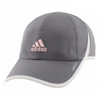 Adidas Women's Adizero II Cap (Grey/White/Hawthorne Pink) - Tennis Accessories