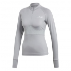Adidas by Stella McCartney Court Clubhouse Prime Knit Long Sleeve Tennis Tee (Mid Grey) - Women's Jackets