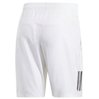 Adidas Men's Club 3 Stripe Tennis Shorts (White)