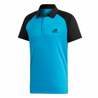 Adidas Men's Club Colorblock Tennis Polo (Shock Cyan/Black) - Men's Polo Shirts