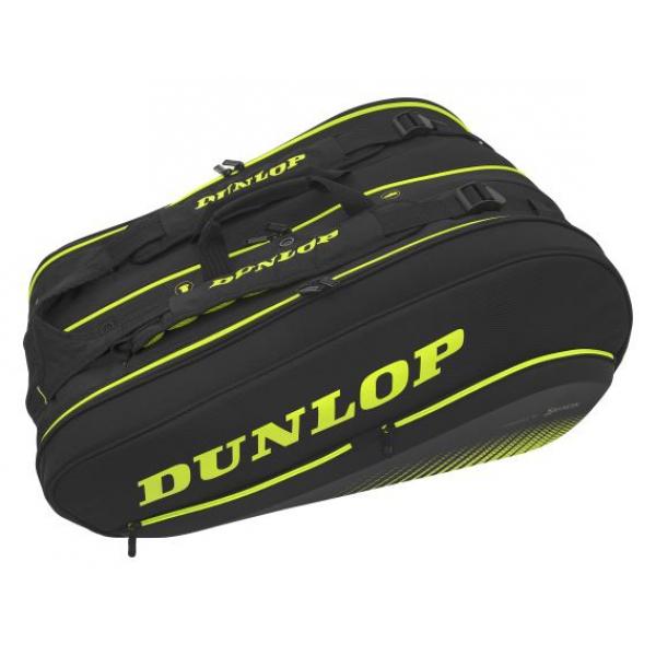 Dunlop SX Performance 12 Racket Tennis Bag (Black/Yellow)