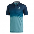 Adidas Men's Parley Tennis Polo (Blue Spirit/Petrol Night) - Inventory Blowout! Save up to 70% on In-Stock Men's Apparel