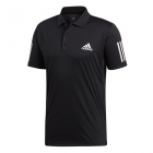Adidas Men's Club 3 Stripe Tennis Polo (Black/White) - Men's Polo Shirts