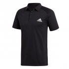 Adidas Men's Club Colorblock Tennis Polo (Black) - Men's Polo Shirts