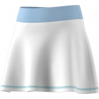 Adidas Girls' Parley Tennis Skirt (White/Easy Blue) - Adidas Junior's Tennis Apparel