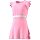 Adidas Girls' Ribbon Tennis Dress (True Pink) - Junior 10 & Under Tennis Equipment for Kids