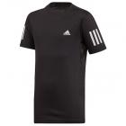 Adidas Junior Boys Club 3-Stripe Tennis Tee (Black/White) -