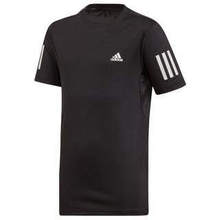 Adidas Junior Boys Club 3-Stripe Tennis Tee (Black/White)