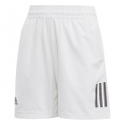 Adidas Boys' Club 3 Stripe Tennis Shorts (White/Black) - Junior Equipment Brands
