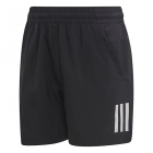 Adidas Boys' Club 3 Stripe Tennis Shorts (Black/White) -