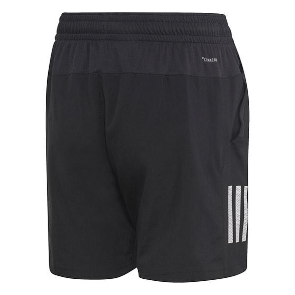 Adidas Boys' Club 3 Stripe Tennis Shorts (Black/White)