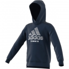 Adidas Boys' Club Tennis Hoodie (Collegiate Navy/White) -