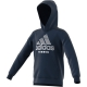 Adidas Boys' Club Tennis Hoodie (Collegiate Navy/White) - Inventory Blowout! Save up to 70% on In-Stock Kid's Apparel