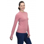 BloqUV Women's Long Sleeve 24/7 Sun Protective Athletic Tee Shirt (Dusty Rose) -