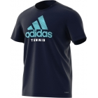 Adidas Men's Category Graphic Tennis Tee (Legend Ink) - Tennis Apparel Brands